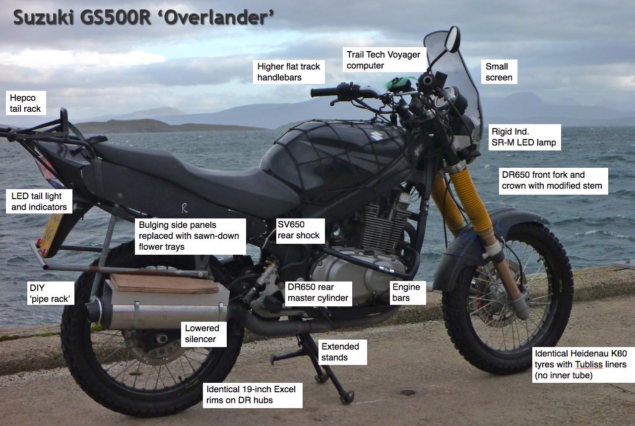 Suzuki GS500R Overlander |