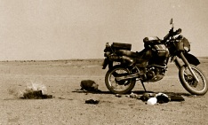 Small baggage fire near Arlit, Niger.