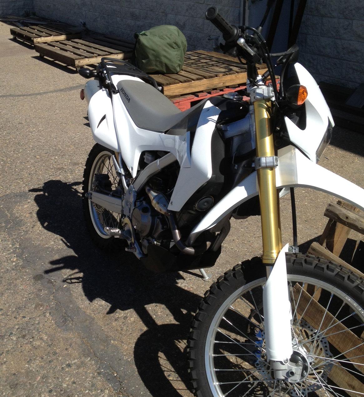honda crfl project bike adventure motorcycling handbook