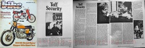 Toff Security (Despatch) Bike magazine November 1978