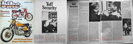Toff Security (Despatch) Bike magazine November 1978