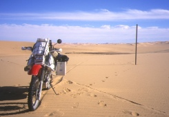 A lone marker in the sands