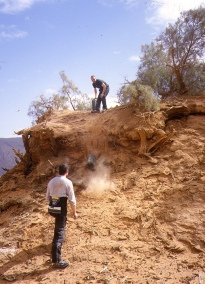 Retrieving fuel near Oued Samene