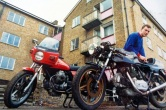 Bikes at Muswell Hill squat - 1981