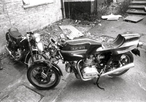 Desmo and Velocette, Muswell Hill - 1981
