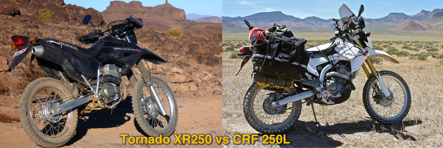 Honda CRF250L vs XR250 Tornado |