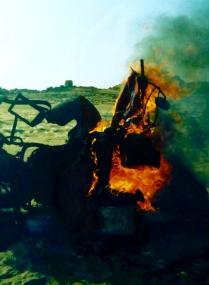 Still burning next morning