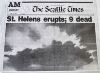 The Seattle Times covers the eruption of Mount St. Helens.