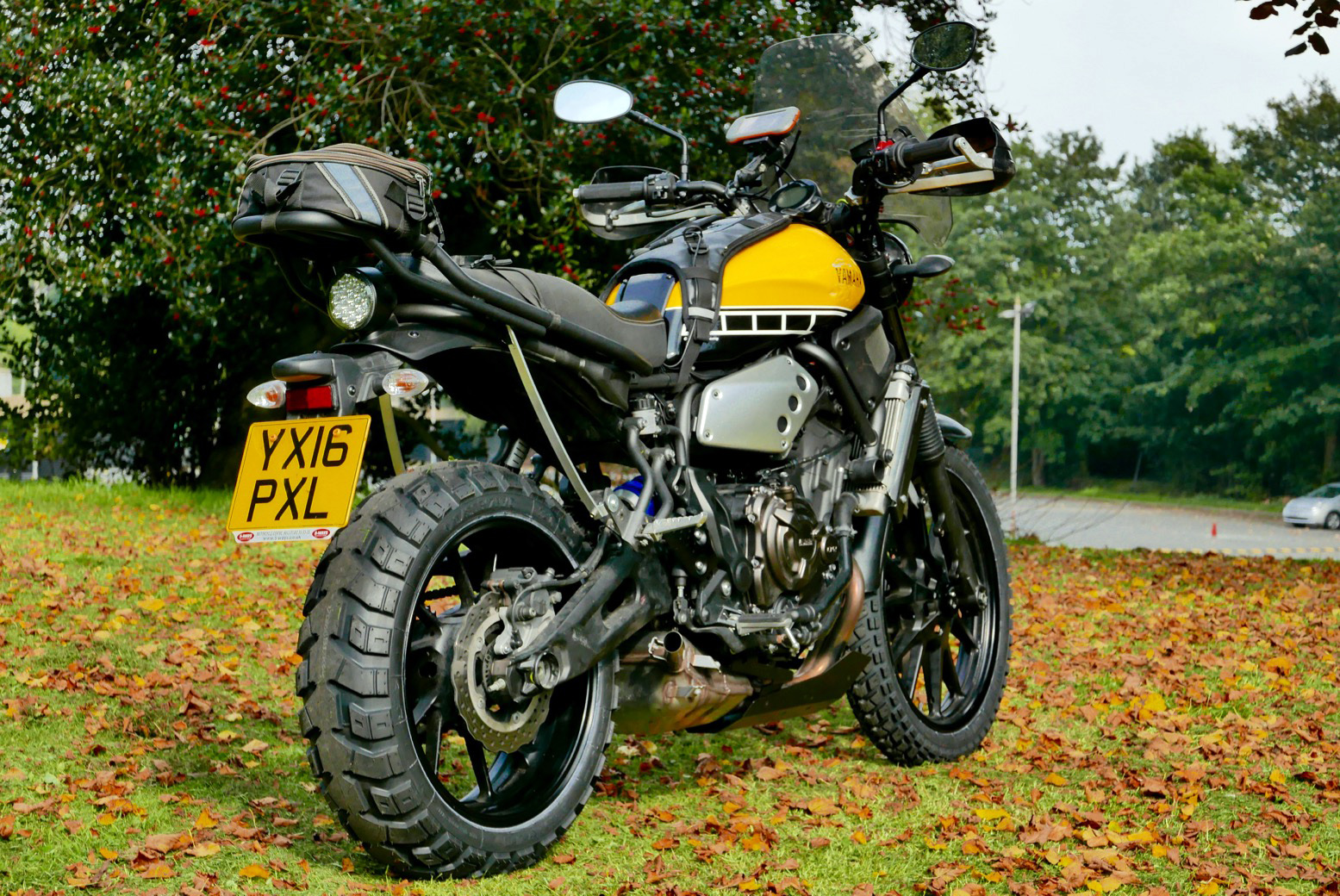 Xsr 700 Scrambler Final Mods Moded Suzuki Bikes My Xscrambler Sets Off In A Month For Morocco And Bar Some Luggage Is Ready To Go Dont Think Ive Ever Had Bike So Far Advance