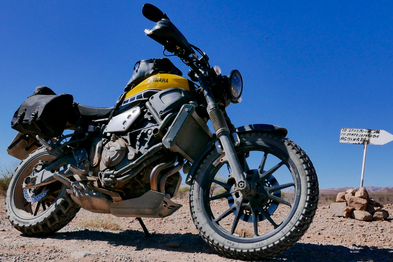 A Few Shots Of My XSR700 Scrambler After Month In Morocco Leading Three Tours Im Impressed With How Its Shrugged It All Off Just Like Old Teneres