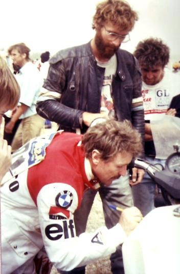 Gaston Rahier signs Al Jesse's BMW ST