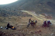 Chilly camp in the bleak Hoggar