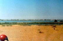 Arriving at the Niger river
