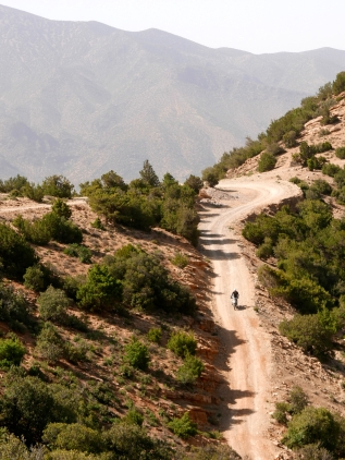 Down the south side of the High Atlas