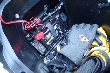 Tools and battery access from the tank box.